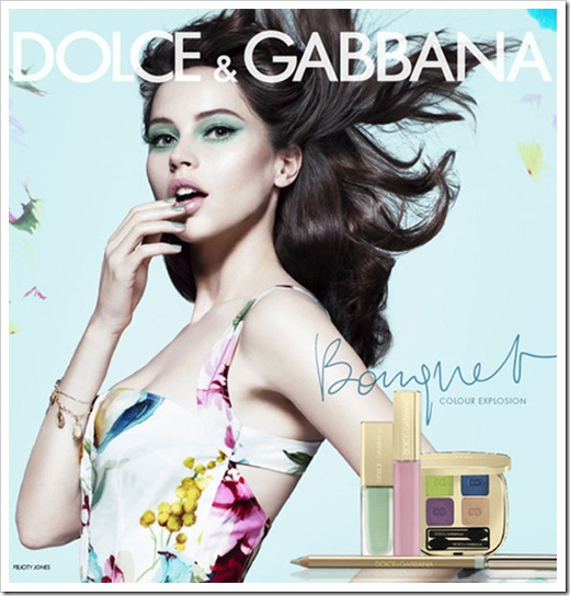 Dolce-Gabbana-Bouquet-Makeup-Collection-Spring-2012-Felicity-Jones
