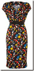 Love Moschino Floral Print Cap Sleeved Dress
