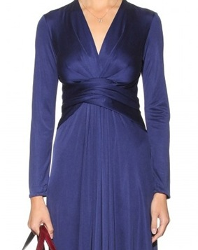 Solid wrapped waist silk dress