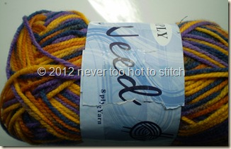 2012 Needles blue gold variegated