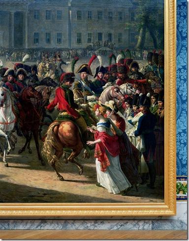 Robert Polidori Detail of Entrée de Napoléon à Berlin by Charles Meynier 1810 Attique du Midi Aile du Midi  Attique Chateau de Versailles 2009