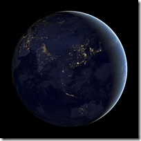 foto bumi malam hari dari nasa - indonesia - australia - asia