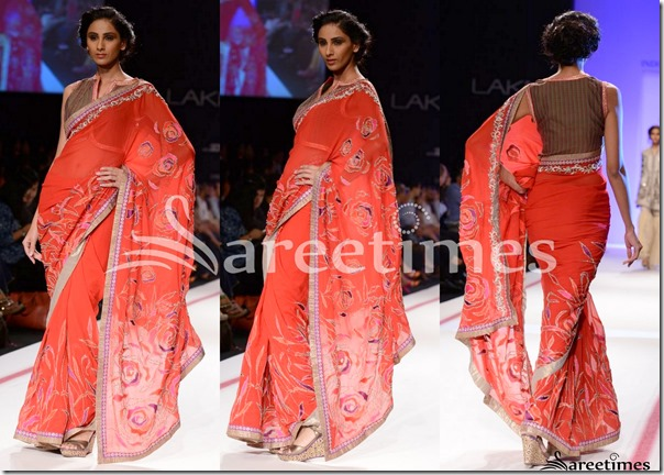 Krishna_Mehta_Peach_Saree