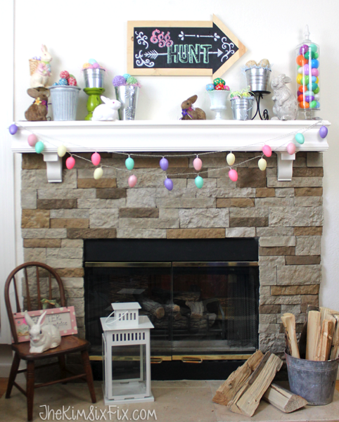 Easter egg mantel
