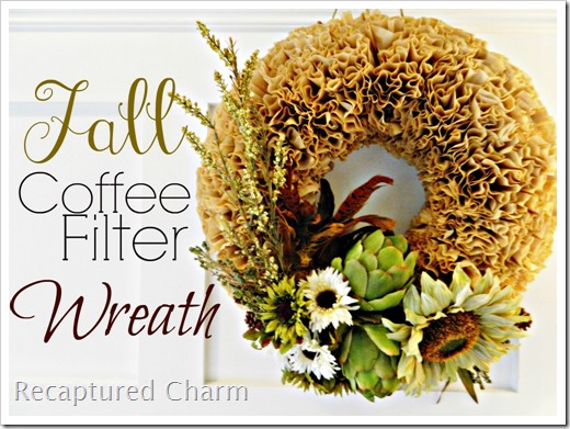 Fall coffee filter wreath 1a