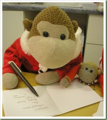 Mums Monkey Christmas Cards 2011