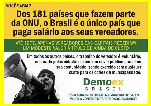 Vereador - só Brasil paga