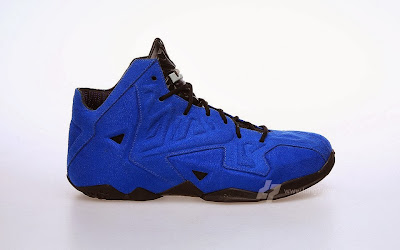nike lebron 11 nsw sportswear ext blue suede 2 11 Nike LeBron XI (11) EXT Blue Suede Detailed Pictures