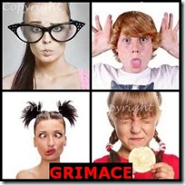 GRIMACE- 4 Pics 1 Word Answers 3 Letters