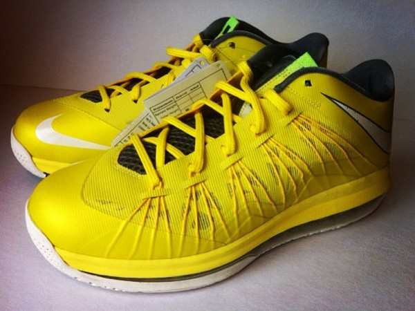Nike LeBron 10 Low Sonic Yellow Cool Grey