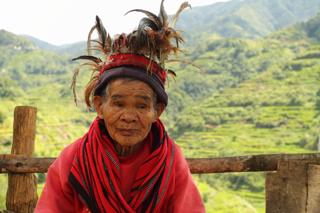 Elderly Ifugao Tribal Woman at Banaue, Philippines