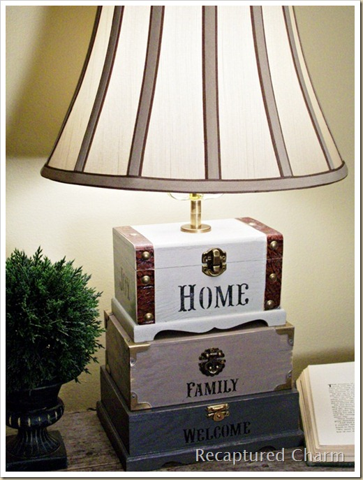 Dollar Store Trinket Box Lamp 057a