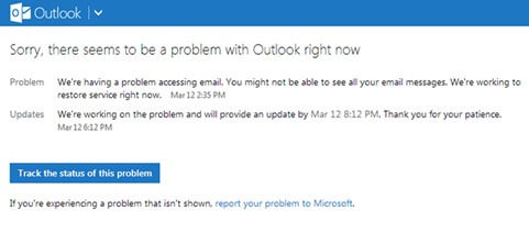 Problemas con Outlook