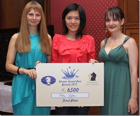Winners - 1st Yifan, 2nd Kosintsiva, 3rd Lahno
