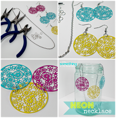Neon Necklace Collage