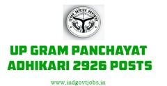 UP Gram Panchayat Adhikari 2926 vacancies