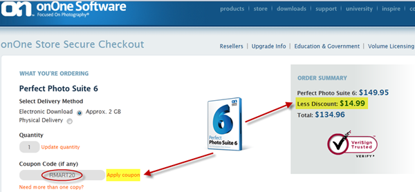 onOne Software Discount Coupon Code