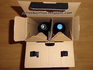 vinhos na caixa