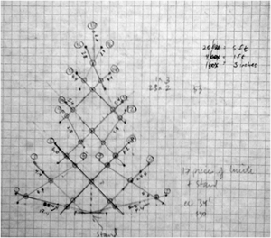 Christmas tree scale drawing