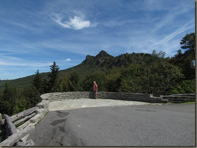 overlook at on the road up grandfather mountain