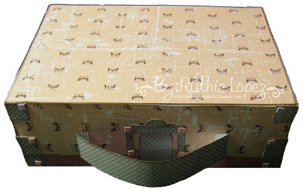 The Cutting Caffe - Suitcase Box - CRAFT GDT - Ruthie Lopez