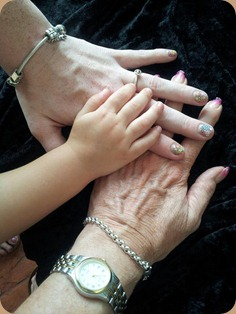 3 generations of hands