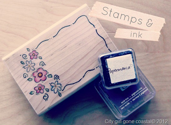 stamps and ink