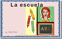 La Escuela - simple, printable bok for basic school vocabulary in Spanish - free from Raki's Rad Resources.
