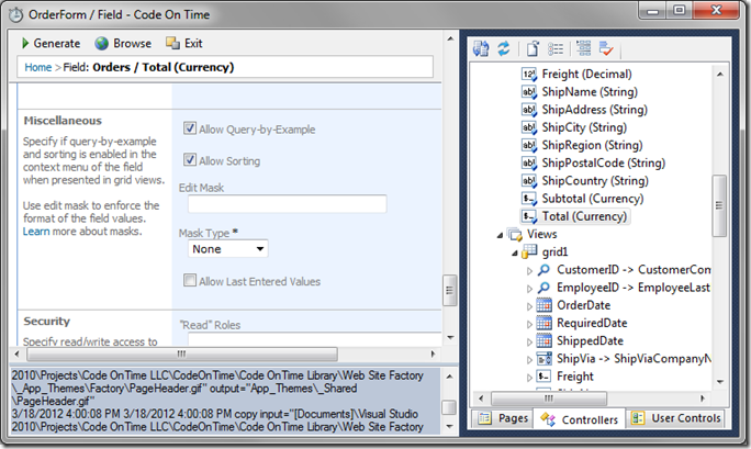 Enable Query-by-Example and Sorting on 'Total' field