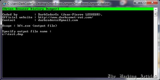 ORION BROWSER DUMPER v1.0