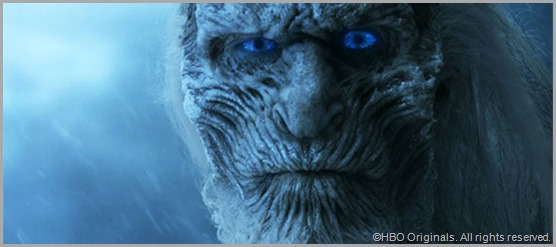 An angry White Walker. Perhaps he's been forced to sit through a full season of GAME OF THRONES. CLICK to visit the official site.