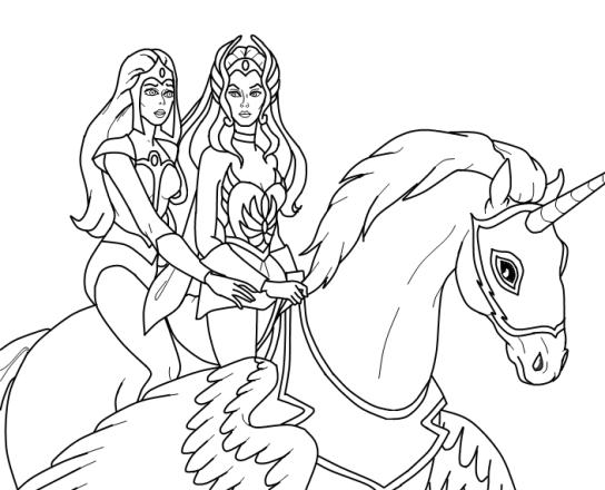 desenhos para colorir she-ra