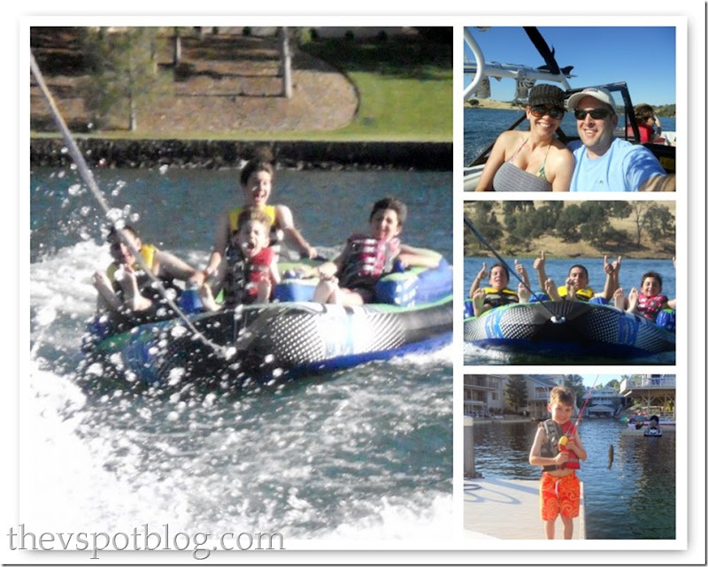 lake mosaic, lake tulloch, tubing, fishing