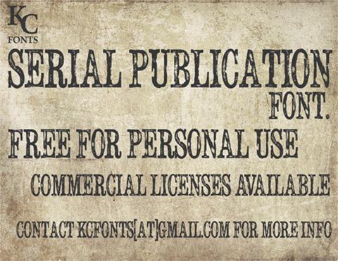 12-Serial-Publication-font