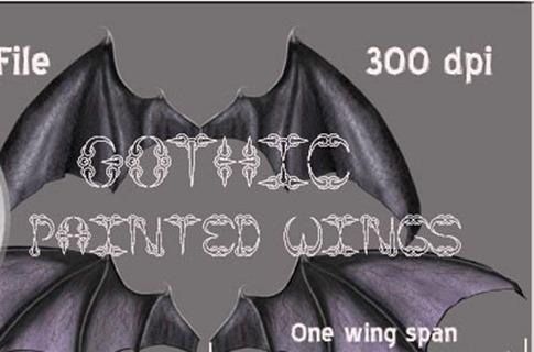 Pinceles de alas góticas
