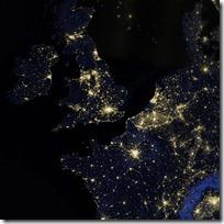 foto bumi malam hari dari nasa - inggris - irlandia