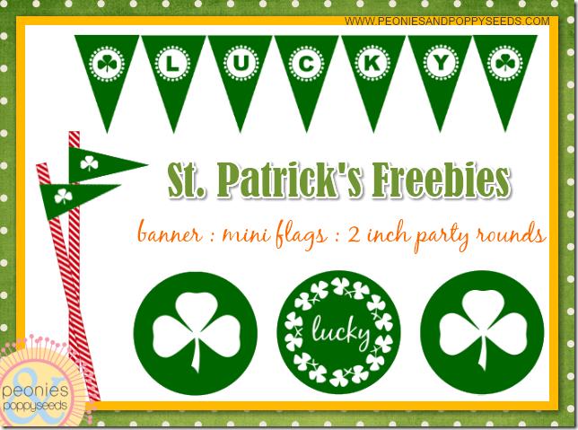 free st patrick printables copy