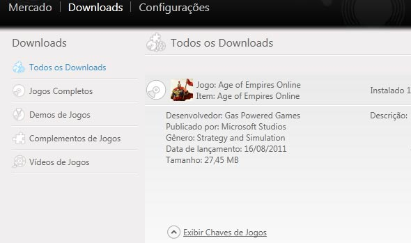 Chave do age of empires online.