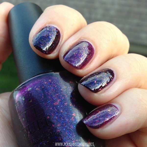 China Glaze Howl You Doin' vs OPI Merry Midnight