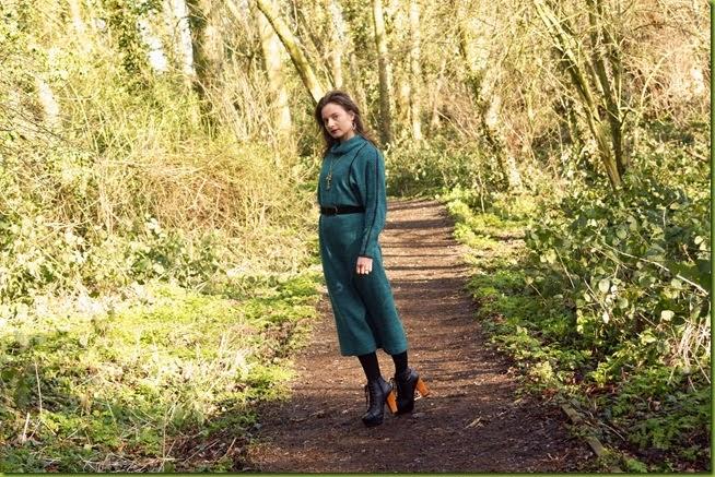Walking in the forest in heels