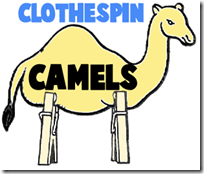 clothespin-camels