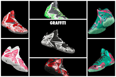 nike lebron 11 id graffiti 4 00 NIKEiD LeBron XI Graffiti in 7 Different Ways