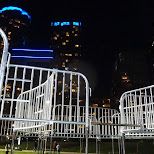 labyrinth of fences at Nuit Blanche 2014 in Toronto, Ontario, Canada