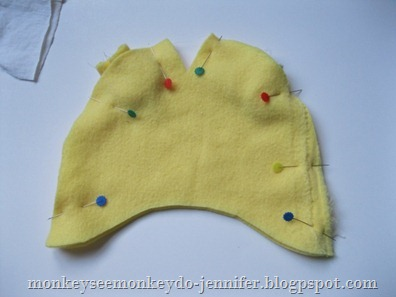 Monkey see monkey do fleece baby hat with bear ears now you can assemble the hat according to the tutorial found here when placing the back fabric onto the hat with right sides together make sure the ears pronofoot35fo Choice Image