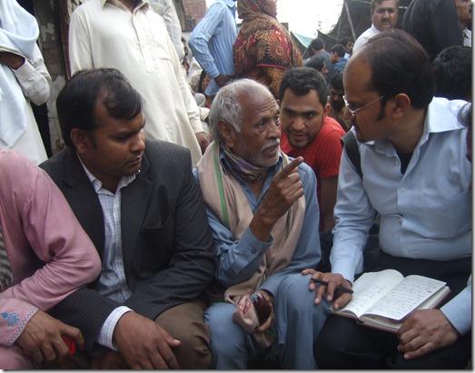 Shamim Masih (right) - Chaman Masih (center) father to Sawan 3-11-13