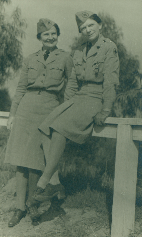 Lois Mercer and Dorothy Putnam in uniform. Undated.