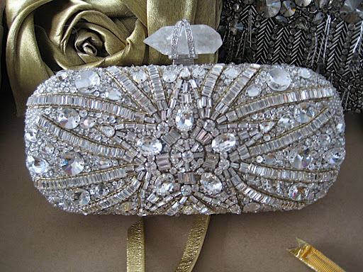 It's hard to put in words how pretty this Marchesa clutch is in person.