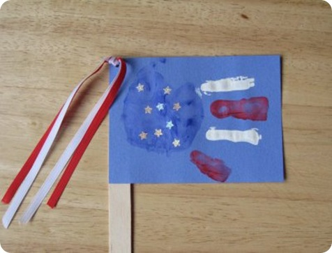 American Flag Craft Preschool
