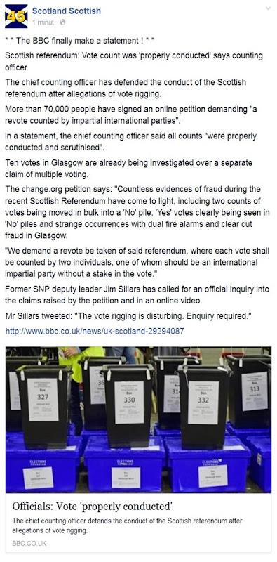 frauda en Escòcia pel referèndum BBC ne parla enfin