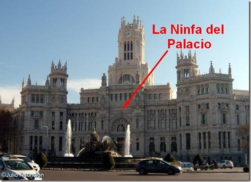 Ubicación del la Ninfa del Palacio de Cibeles - Madrid